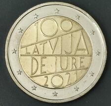 2 Euro Lettland 2021 100 Latvia de Jure - Prägefrisch von der Rolle - Auf Lager