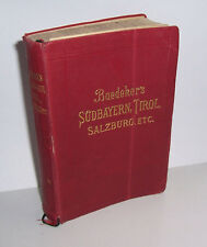 Baedeker Südbayern Tirol Salzburg etc. 1906 Reiseführer !