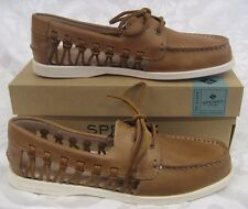 NEW WOMEN SPERRY TOPSIDER LEATHER BOAT SHOE A/O HAVEN SAHARA WOMEN SIZE 9.5