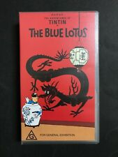 TIN TIN VHS VIDEO - THE BLUE LOTUS