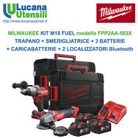 MILWAUKEE KIT M18 FUEL model FPP2AA-503X TRAPANO SMERIGLIATRICE 3 BATTERIE 5,0Ah