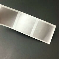 20PCS/Sheets Silver Square Label Shape Scratch Off Stickers 25*25mm/ 23*43mm