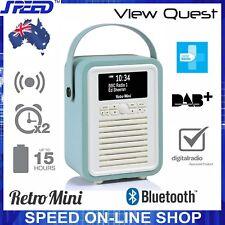 VQ View Quest Retro Mini DAB DAB+ FM Radio Bluetooth Portable Speaker - Mint