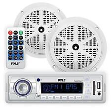New 8 x 6.5/'/' Round Waterproof Marine Boat Stereo Black 960watt Speaker System