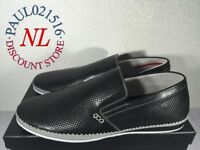 NEW Zanzara Men's Merz Cognac Slip-on Loafers ~ Black ~ Pick Your Size