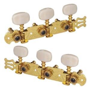 NEW Mécaniques 3X3 acoustiques gold embouts crème -guitare classique, acoustique