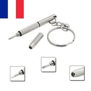 Lot 10X Porte Clé outils tournevis de précision 3 en 1 Lunettes Montre Téléphone
