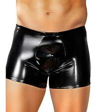 MALE POWER RUBBER POUCH BRIEF BOXER SEXY MENS LARGE BLACK UNDERWEAR