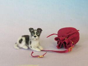 OOAK Dollhouse Miniature 1:12 dog Terrier Realistic Handmade IGMA Artsn JParrott