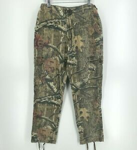Cabela's Pants Men's Size 34 Green Camo Hunting Belted Button