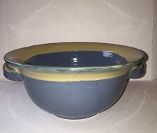 Tumbleweed Pottery Blue Bowl With Side Handles 0.75 Qt two tone color multi