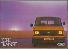 FORD TRANSIT SALES BROCHURE  FEBRUARY 1984