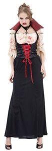 Halloween Adult Midnight Vampiress Countess Vampire Outfit Fancy Dress Costume