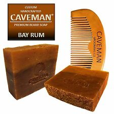 Handcrafted Caveman® Bay Rum Beard Oil Beard Wash Shampoo Custom Soap FREE Comb
