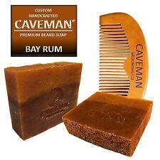 Handcrafted Caveman® Bay Rum Beard Oil Beard Wash Shampoo Custom Soap FREE Comb