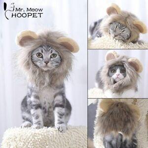 Hoopet Pet Cat Costume Clothes Cap Funny Hat Lion Mane Wig Hat Party   Head Wear