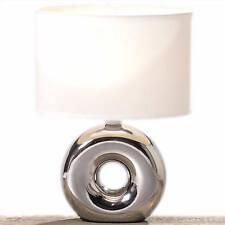 2er Set Schreibtischleuchten Touchschalter Glas Lampen satiniert Höhe 30,5 cm