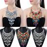 Fashion Women Statement Chain Crystal Collar Chunky Pendant Bib Necklace Jewelry