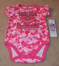 New Orleans Saints Baby Girl Loves Football Camo Bodysuit New 3-6 Months