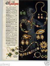 1958 Paper Ad Karen Lynne Costume Jewelry Scarab Earrings Necklace Bracelet