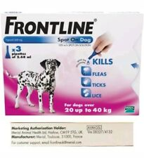 Frontline Spot On Flea Large Dogs 20kg - 40kg 3 pipettes & Fast Day Post