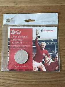Royal Mint Alderney 1966 FIFA World Cup Football BUNC £5 Coin Pack