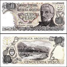 ARGENTINA 50 PESO 1976-78 UNC 5 PCS CONSECUTIVE LOT P 301B