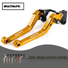 Motorbike CNC Alu Long Brake Clutch Adjustable Levers for SUZUKI GSR600 06-11