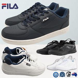 Fila Mens Shoes Running Walking Street Sneakers White Navy