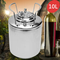 10L Homebrew Growler Keg Stainless Steel Beer Home Brewing Making Bar Tool