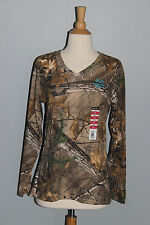 New Ladies REALTREE Xtra Camo Teal Long Sleeve T-Shirt Womens S L XL XXL Tee Top