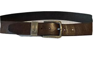 """Mens Diesel Dark Brown Leather Belt 90/36"""""""