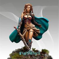 1/32 Unpainted Female Knight Figure Sword Warrior Resin Statue GK Unassembled