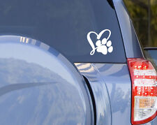 Love Paw Print Dog Cat Pet Sticker Decal Heart Car Laptop Outdoor