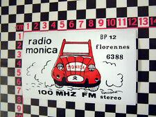 Vintage Pegatina de radio francesa-Pegatina De Coche Clásica Francia de estilo vintage y retro