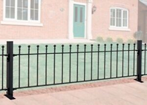 600mm BALL TOP WROUGHT IRON METAL FENCING/RAILINGS PANEL