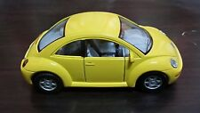 Volkswagen New Beetle toy car Diecast 1:32 Kinsmart yellow