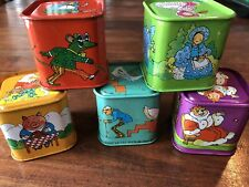 Vintage Chad Valley Toy Tin Stacking Blocks Nursery Display England 1960's