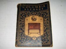 Vintage COLUMBIA RECORDS 1924 CATALOGUE Phonograph recordings