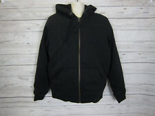 Denver Hayes T-Max Men's Black Insulation Sherpa Lined Hoodie Jacket Size: M