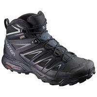Salomon X Ultra 3 Mid GTX Gore-Tex 398674 Black/Grey Mens Hiking Boots Shoes