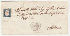 STORIA POSTALE - 1861 SARDEGNA C.20 AZZURRO GRIGIO SU BUSTA D/5715