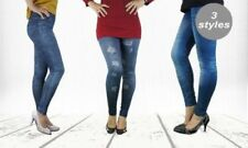 Solid Leggings Ripped Pants for Women