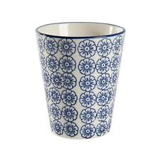 Hand Printed Porcelain Mug Tea Coffee Cups 300ml Blue