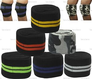 Pro Knee Wraps Weight Lifting Bandage Straps Guard Pads Power Lifting One Size