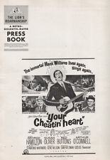 YOUR CHEATIN' HEART pressbook, Hank Williams story, George Hamilton, Red Buttons