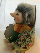 Rare Vintage 1994 Petter W. Eckhoff Norwegian  Plush Doll Troll Boy New in Box