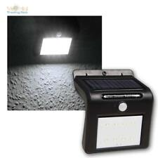 LED Solar Wall Light Black with Motion Detector 1,6W 250lm,IP65 Outdoor Light