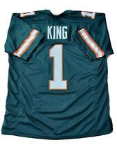 New D'ERIQ KING Miami Hurricanes 2XL College Custom Stitched Football Jersey Men