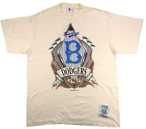 BROOKLYN DODGERS vintage MLB t shirt COOPERSTOWN COLLECTION Starter 1993 Large